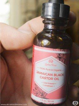 Leven rose castor oil label